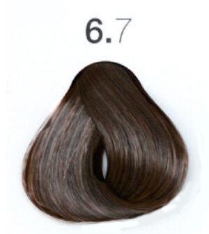Краска для волос 6.7 Тёмный блондин коричневый