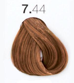 Краска для волос 7.44 Блондин интенсивный медный