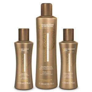 Brasil Cacau Professional: Процедура выпрямления и восстановления волос 110/300/110 ml